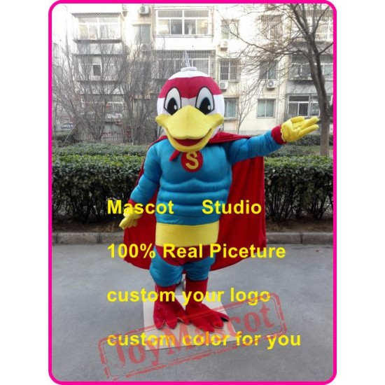 Duck Superman Mascot Costume Duck Superhero