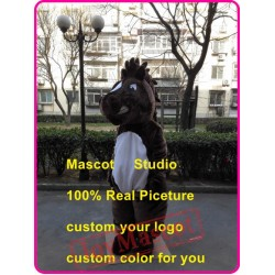 Brown Mustang Mascot Costume Horse