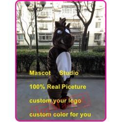 Brown Mustang Mascot Costume Horse