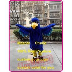 Blue Eagle Mascot Costume Plush Falcon Hawk