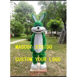 Green Rabbit Mascot Costume
